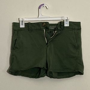 American Eagle Olive Green Super Stretch Shorts